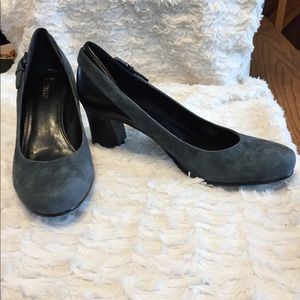 B. Makowsky Suede and leather Heels